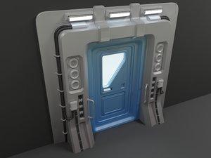 3d sci-fi door 03