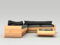 place lounge sofa 3d model