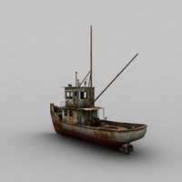3d oldmetalboat metal boat