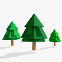 3d model of cartoon tree