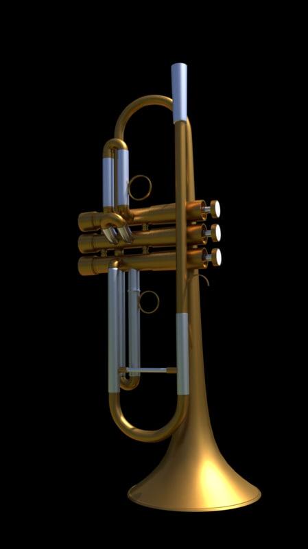 3d model of trumpet g p flora