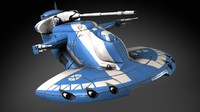 3d star wars aat model