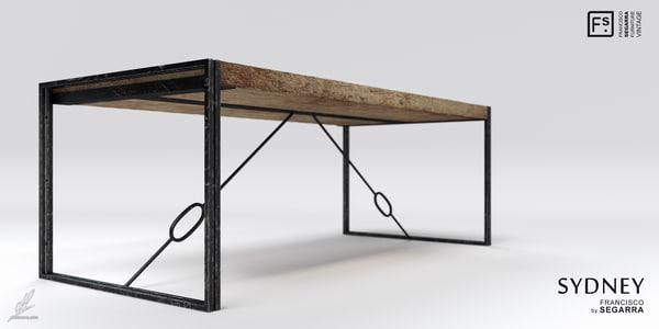 sydney table 3d 3ds