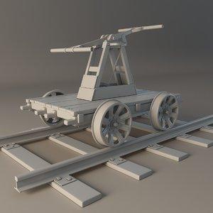 3d model rail handcar