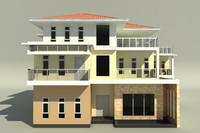 3d model of 3 storeyed big family