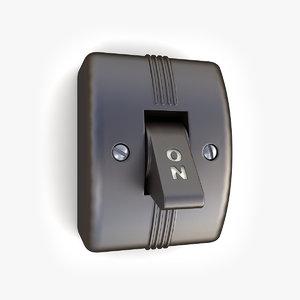 3d vintage light switch 02 model