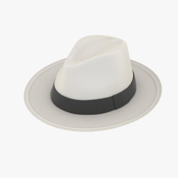 3d model panama hat