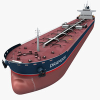 3d model realistic oil tanker