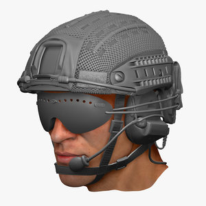 3d model crye precision atx helmet