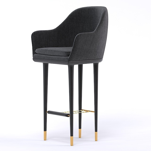 lunar bar chair 3d model