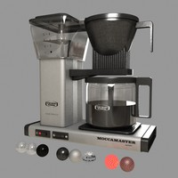 moccamaster coffee machine 3d model