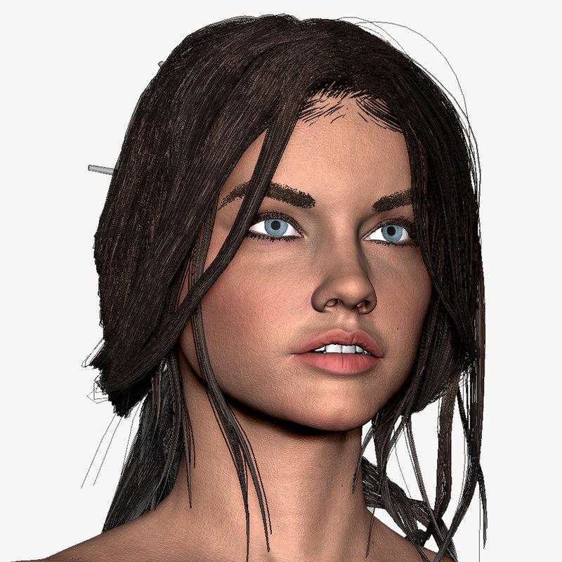 zbrush woman abbey 3d model