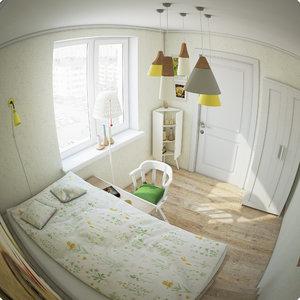 3d children s room model