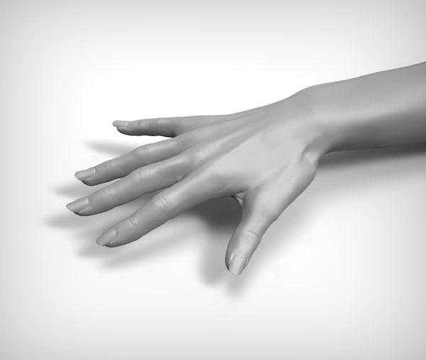 3d model beauty woman hand