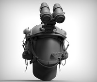 combat helmet 3d model
