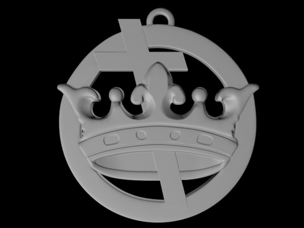 3d model medalion egovistic