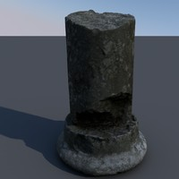 3d scan ancient pillar model