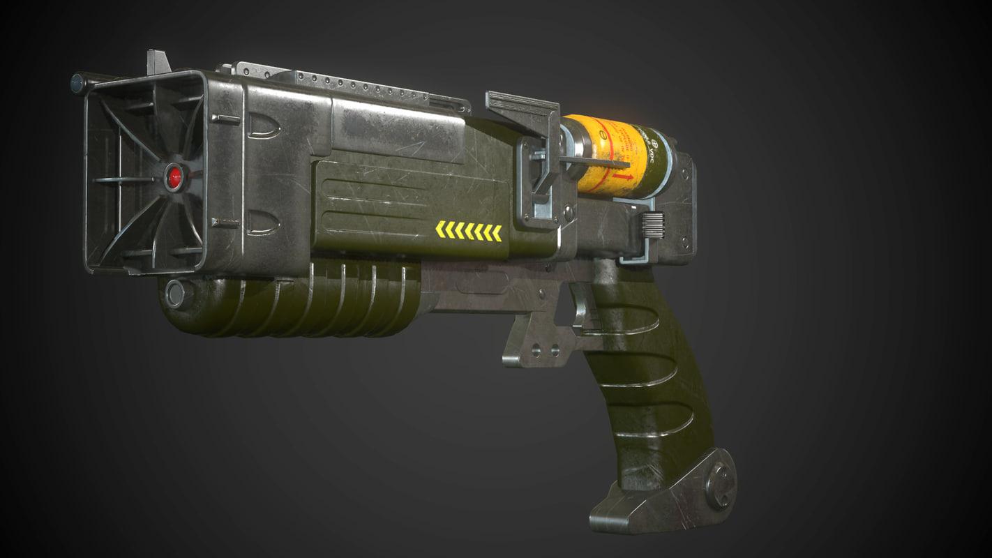 laser pistol 3d x