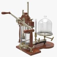 3d brass vacuum pump model