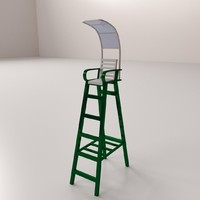 tennis umpire chair 3d 3ds