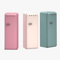 3d model smeg refrigerator