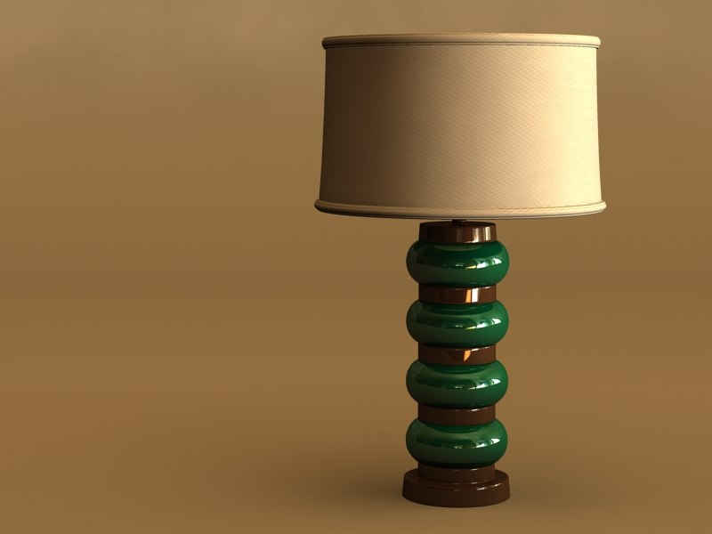 3d model lamp lady