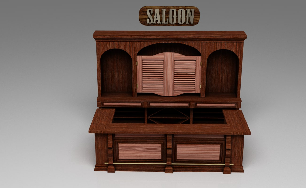 3d model saloon bar