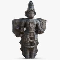 3d model of hampi sculpture 1