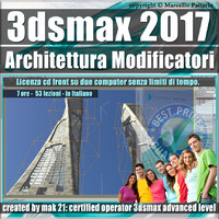 008 3ds max 2017 Architettura e Modificatori vol.8 cd front