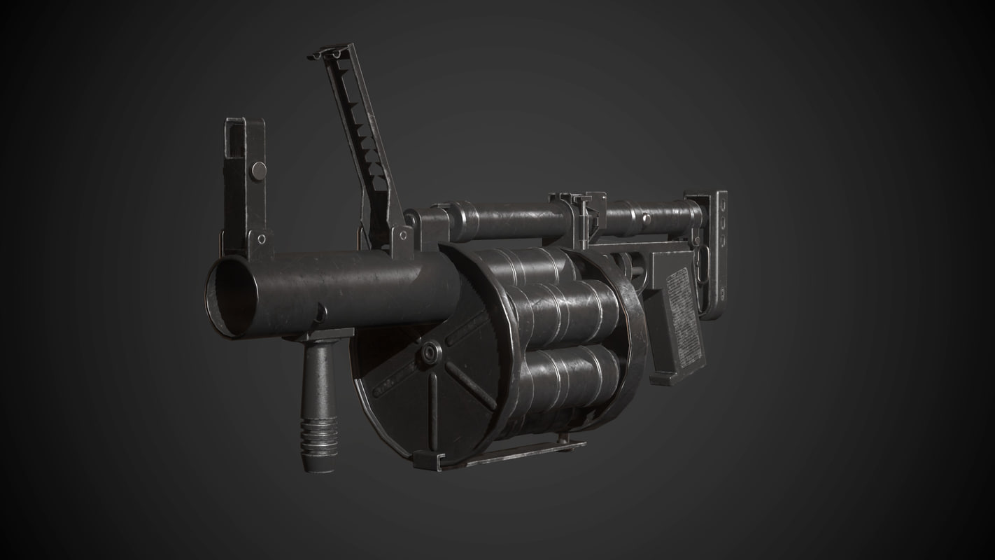 3d model rg-6 grenade launcher