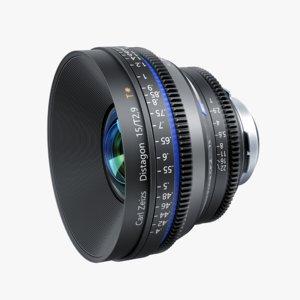 3d camera lens distagon