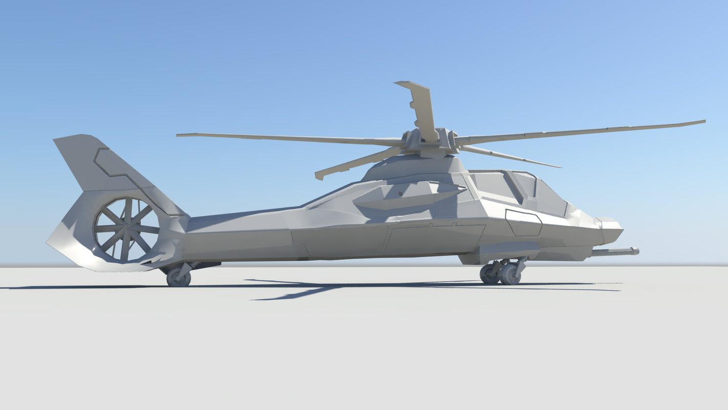 3d stealth helicopter model