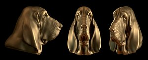bloodhound head obj