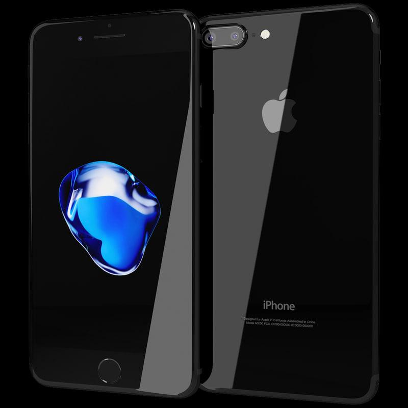 realistic apple iphone 7 3d model