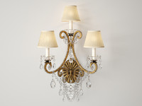 adrianna triple sconce rl2232gi-s 3d model