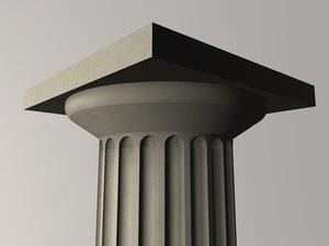 3d greek doric column model