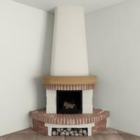 corner fireplace max