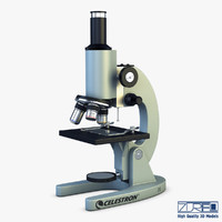 3d model celestron laboratory biological microscope