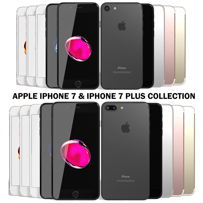apple iphone 7 models 3d model realistic apple iphone 7 22388