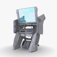 3d model console sci-fi