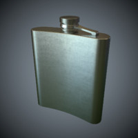 Pocket Bottle Game Ready Low-Poly PBR