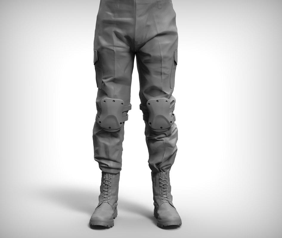 3d combat pant