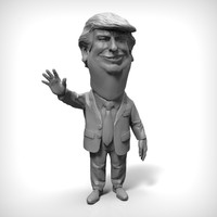 donald trump pose1 cartoon obj