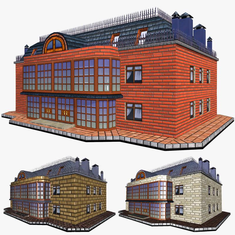 house apartments building 3d model