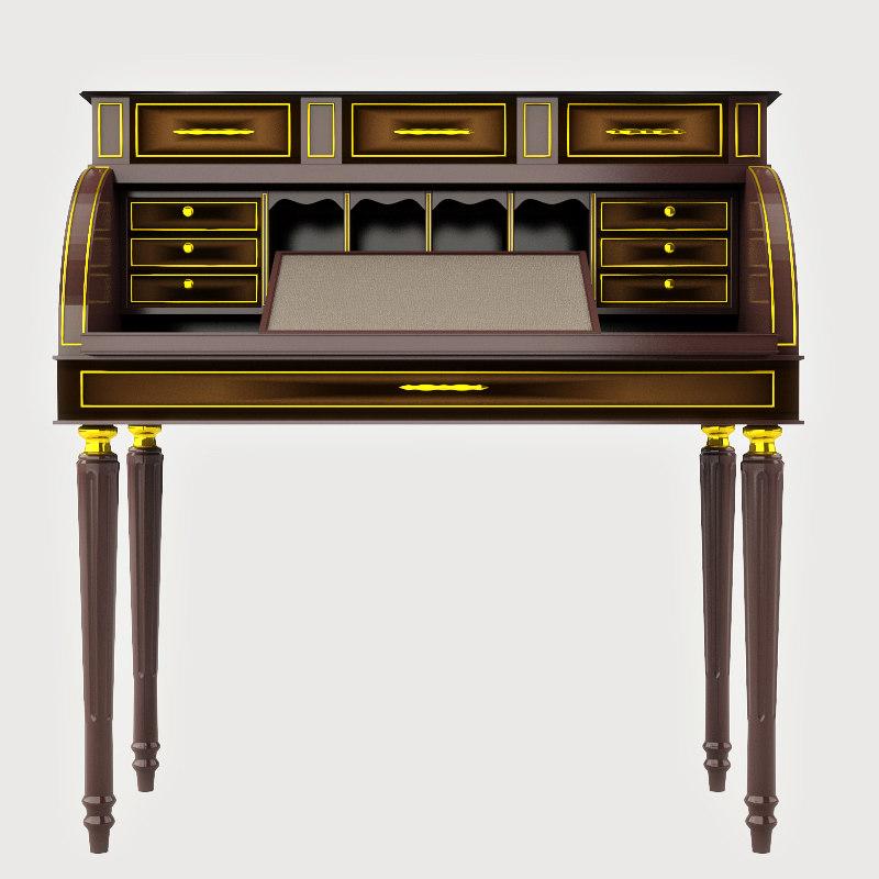 3d antique study table