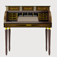 3d antique study table