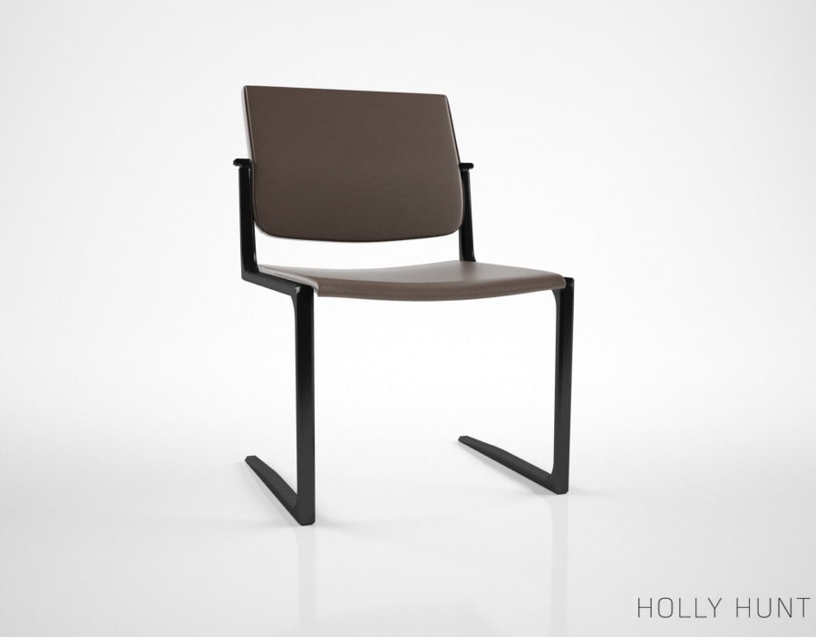 3d model of holly hunt shadow dining chair