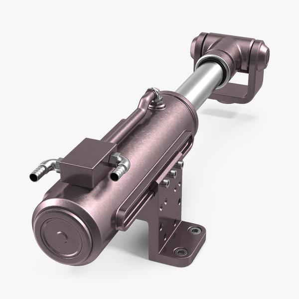 anodized hydraulic cylinder 6 3d max