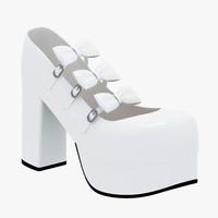 3d model of lolita shoe