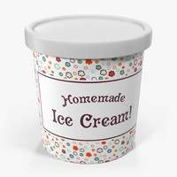 ice cream pint container 3d model